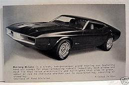 Ford Mustang Milano Sports Car Old Exhibit Vending Card  EBay