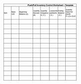 Stock Inventory Control Worksheet Template Free Example