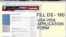 fill ds 160 usa visa application form step by step youtube