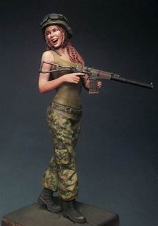 Scale Model Female | 1 16 scale modern female soldier miniatures unpainted