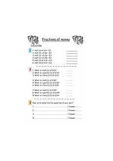 money worksheets year 6 2399 fractions of money worksheet teaching resources