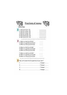 money worksheets decimals 2112 fractions of money worksheet teaching resources