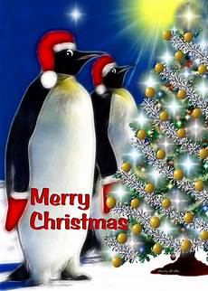 merry christmas penguins digital art by madeline allen smudgeart