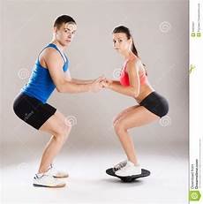 fitness male and female athletic man and woman royalty free stock photography