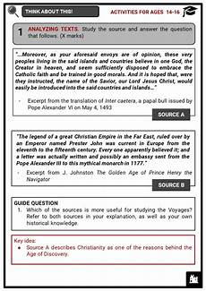 age of discovery facts worksheets impact summary outcomes