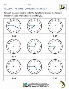 telling time worksheets printables 3706 clock worksheet quarter past and quarter to