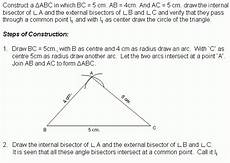 construction 5 excircle middle high school algebra geometry and statistics ags