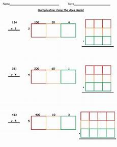 multiplication worksheets using area model 4625 common aligned multiplication using partial products area models