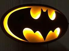 small justice league batman batsignal superhero logo led illuminated light wall art en