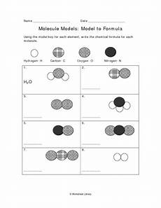 molecule to formula and to formula worksheet for 7th 9th grade lesson planet
