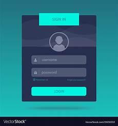 login form design royalty free vector image vectorstock
