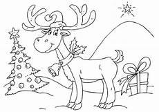 malvorlage rentier ausmalbild 23374 weihnachtsfarben