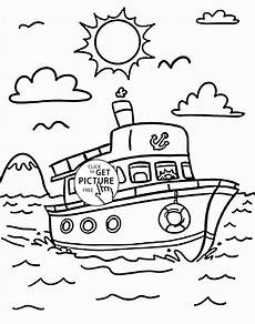 transportation coloring worksheets 15179 ship coloring page for transportation coloring pages printables free wuppsy co