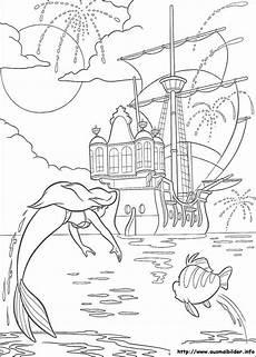 ausmalbilder meerjungfrau schloss arielle die meerjungfrau malvorlagen