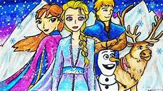 Cara Menggambar Dan Mewarnai Tema Frozen 2 Elsa Olaf