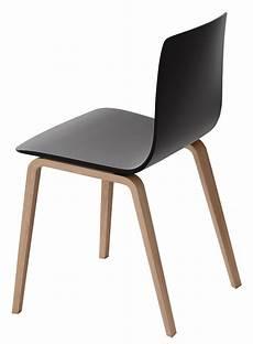 chaise aava pieds bois noir pieds bouleau naturel