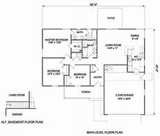 1250 sq ft house plans ranch style house plan 3 beds 2 baths 1250 sq ft plan