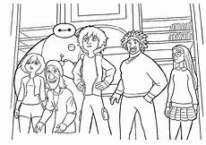dibujos para colorear de 6 grandes heroes dibujos para