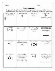 fraction review worksheets 4078 4th grade fraction review activities by live2teach123 tpt