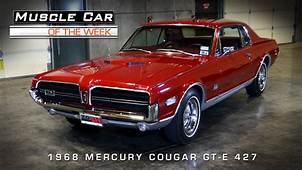 Muscle Car Of The Week Video 59 1968 Mercury Cougar GT E