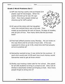 free math word problem worksheets for grade 3 11483 grade 3 word problems set 2