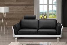 sofa garnitur sam 174 design sofa garnitur 2 3 sitzer schwarz wei 223 negro