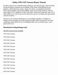 car owners manuals free downloads 1997 gmc sonoma club coupe auto manual 1996 gmc sonoma repair manual online by joseph lewis issuu