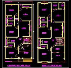 dwg house plans duplex house 30 x60 autocad house plan drawing free