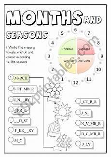 months and seasons activities worksheets 14767 months and seasons esl worksheet by makigi
