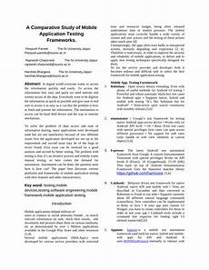 pdf a comparative study of mobile application testing