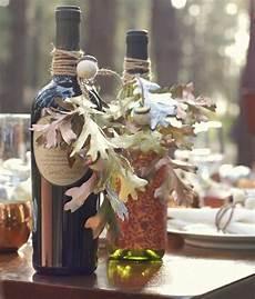 Weinflasche Dekorieren Geschenk Verpacken Eichel Dyi