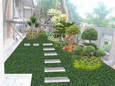 Desain Taman Halaman Luas Gambar Desain Rumah Minimalis