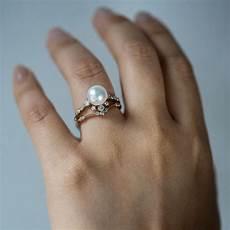 winter pearl ring pearl ring tanzanite engagement ring