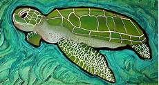 green sea turtle painting by barbosa