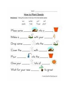 science worksheets about plants for grade 1 12109 seeds plants worksheet fill in the blanks science worksheets plant lessons plant science