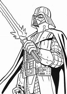 the terrifying darth vader with light saber in wars