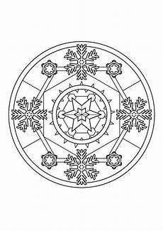 Ausmalbild Schneeflocken Mandala Ausmalbild Mandalas Schneeflocken Mandala Zum Ausmalen