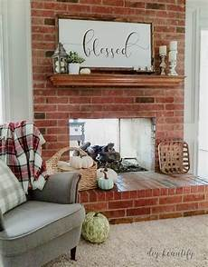 using chalk paint to update a brick fireplace diy beautify creating at home