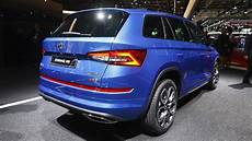 skoda kodiaq rs lands in as fastest 7 seat suv at