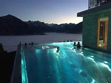 heated infinity pool at hotel villa honegg offers sweeping