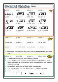 decimals division worksheet 7098 differentiated decimal division worksheet by prof689 teaching resources