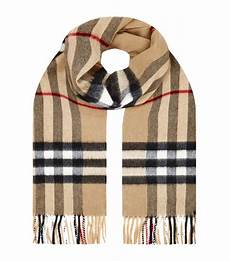 Burberry Check Scarf In Brown Lyst