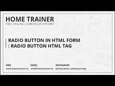 radio button in html form radio button html tag youtube