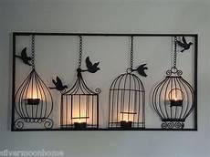 bird cage wall art tea light candle holder black metal unusual wall hanging ebay idea