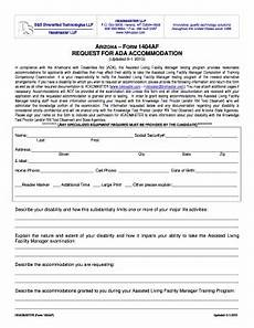 fillable online ada accommodation 1404 headmaster fax email print pdffiller