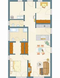 Schmaler Bungalow Grundriss - bungalow nivo 95 95 m 178 fertighaus bungalow mit flachdach