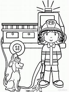 fireman coloring pages for printable coloring home