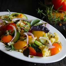 farm fresh vegetarian pasta salad recipe by archana s kitchen