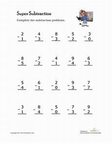 single digit subtraction math worksheet single digit subtraction subtraction worksheets