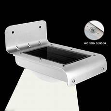 16 led solar powered pir motion sensor garden security